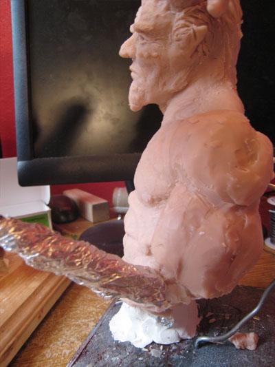 polymer clay arm
