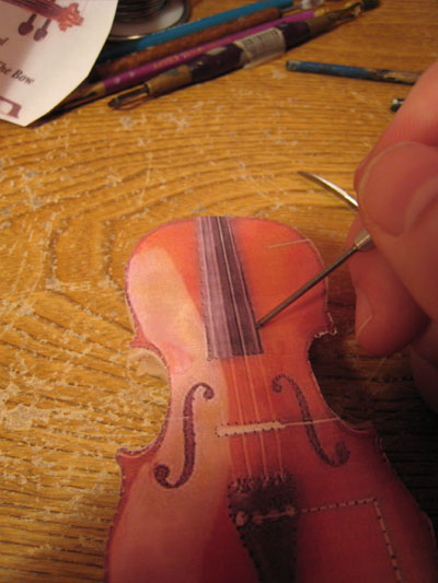 Sculpting a fiddle in polymer clay