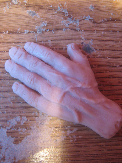 polymer clay hand