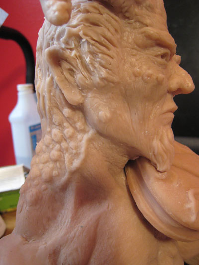 sculpting neck in polymer clay