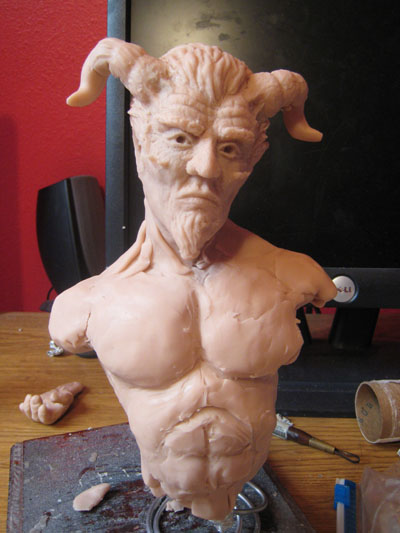 Sculpting a torso in polymer clay