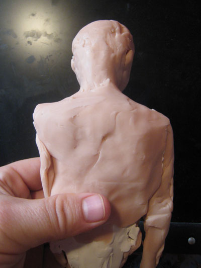 back of polymer clay torso