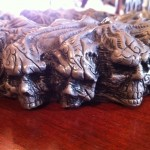 Skull Cigar Ashtray - side view
